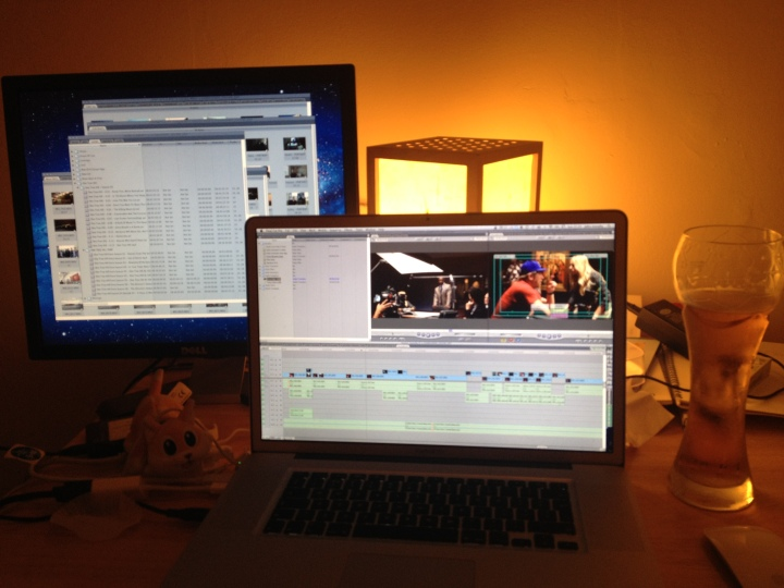 I also edit at home some nights