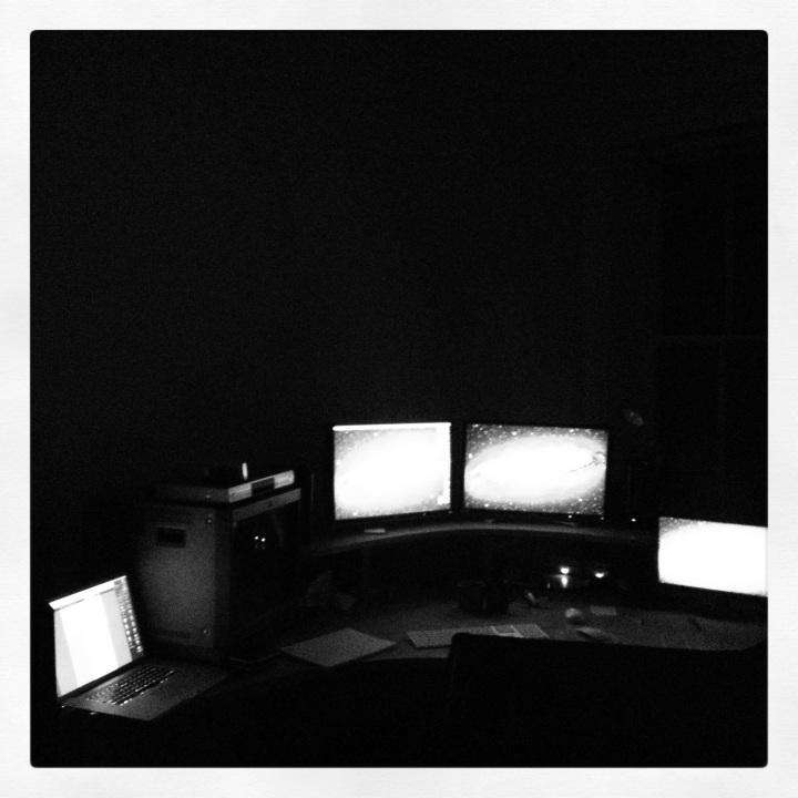 The edit suite in Dublin