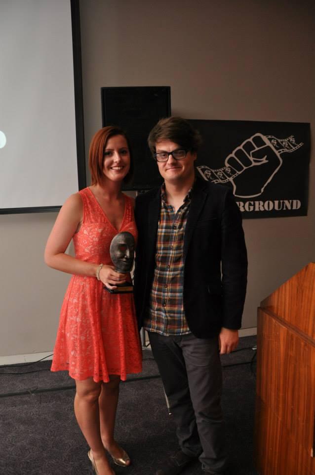 Lead actress Laura Erangey collects award for Kara