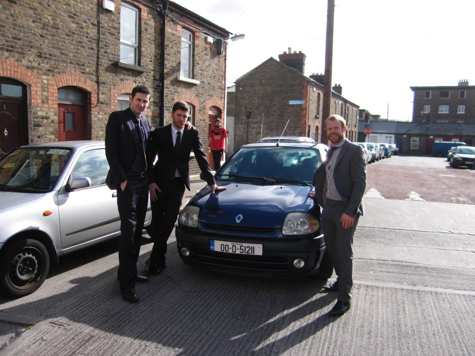 Ciaran Cassidy, Me and 2 guys who are proud of their Renault Clio