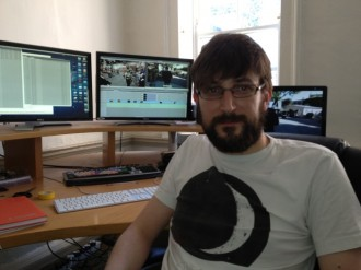 There I am in the edit suite...